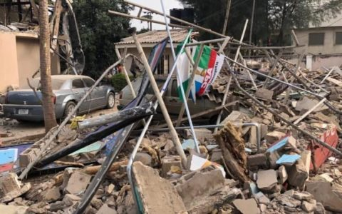 BREAKING: Kaduna factional APC office demolished