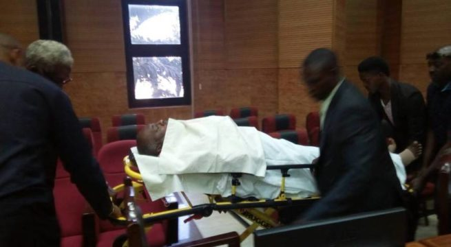 Nigeria: Metuh appears in court on a stretcher