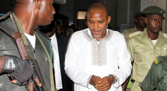 Senate, Enyinnaya Abaribe, senator representing Abia South in the upper house and two others have been ordered by the Federal High Court Abuja to produce Nnamdi Kanu in court by June 26th 2018.