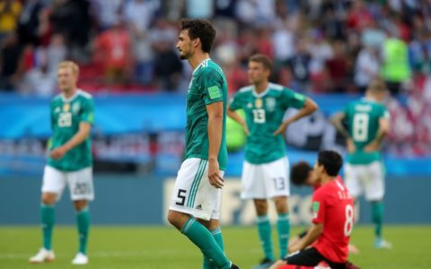 World Cup: Defender Champions, Germany Crash Out, Lose 2:0 to Korea Republic