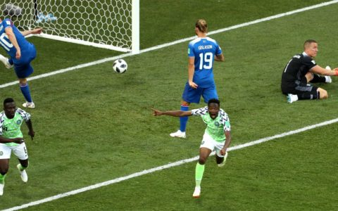 World Cup: Nigeria Keeps Hope Alive, Win Iceland 2:0