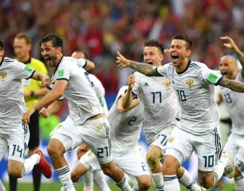 World Cup: Hosts, Russia Shock Spain, Win Via Penalty Shootout