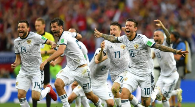 World Cup: Hosts, Russia Shock Spain, Win Via Penalty Shootout