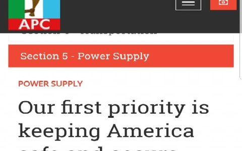 Nigeria: Our First Priority is Keeping America Safe and Secure - APC