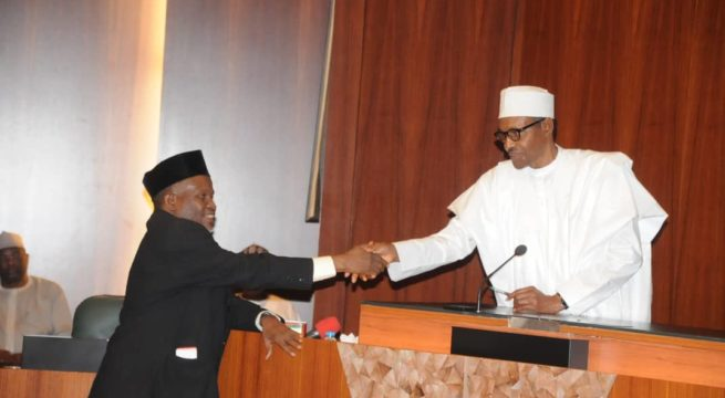 Breaking News: Buhari Seeks to Confirm Tanko as CJN, Urges Quick Confirmation by Senate