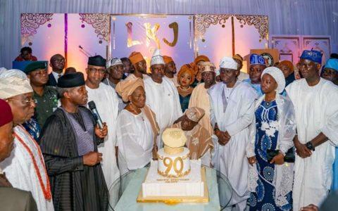 Osinbajo, Tinubu, Sanwo-Olu, others Celebrates Jakande at 90