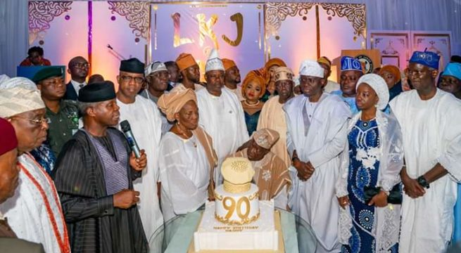 Osinbajo, Tinubu, Sanwo-Olu, others Celebrates Jakande at 90