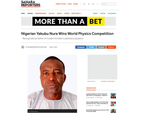 "Dr. Yakubu Nura Did NOT Win Any ""World Physics Competition"" - Farooq Kperogi"
