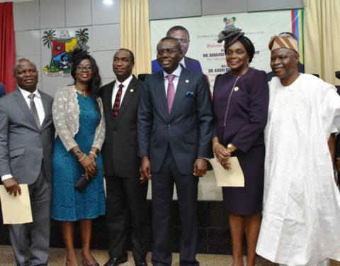 Sanwo-Olu Swears-in New Permanent Secretaries