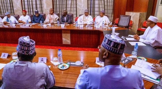 APC Crisis: President Buhari Meets APC Governors in the Villa