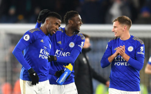 Nigerian Duo- Ndidi and Iheanacho Commended by Brendan Rodgers for Fine Outing Against Watford