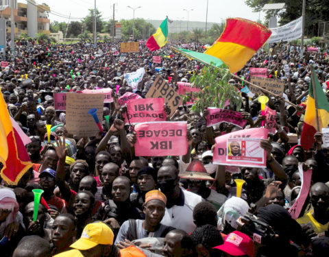 Mass Rally Demanding President Ibrahim Boubacar's Resignation Continues in Mali