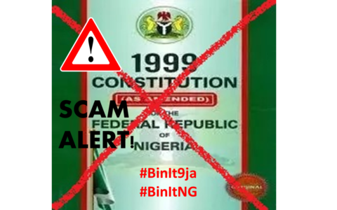 1999 Nigeria Constitution – Bin it to Rescue Nigeria