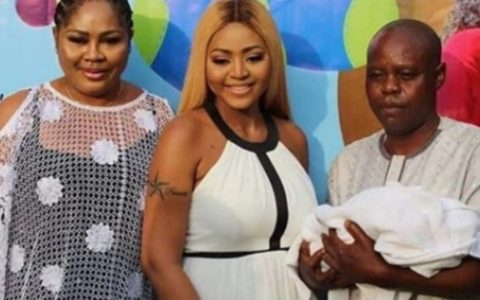 Regina Daniels' Father Reconciles with Ned Nwoko after Birth of Grand Child