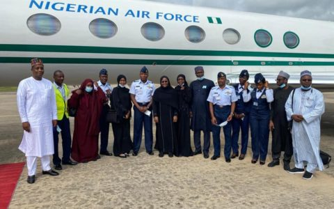 Aisha Buhari Confirms Escaping Plane Crash