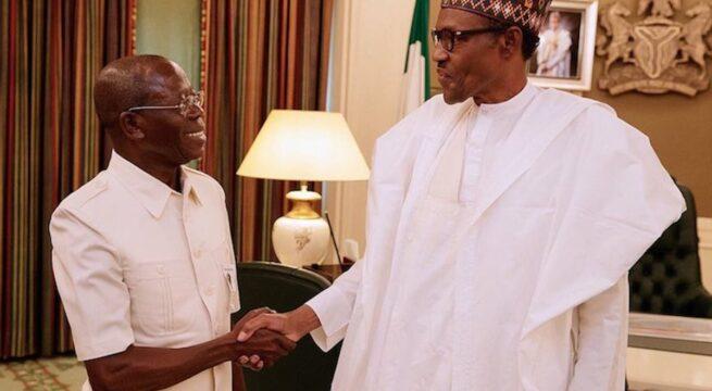 Oshiomhole Meets Buhari at the Villa, Makes Requests Ahead of Edo Gubernatorial Poll