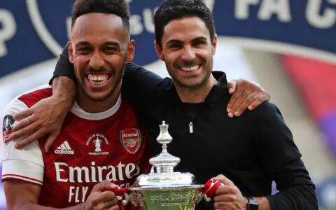 Arteta Lauds Aubameyang's FA Cup Heroics, Hopes Striker Extends Gunners Contract