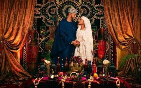Money Rain as President Buhari's Daughter, Hanan Weds (See Video)