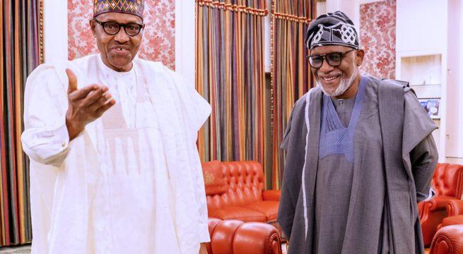 Ondo is not Edo – Akeredolu Says as he Visits Buhari