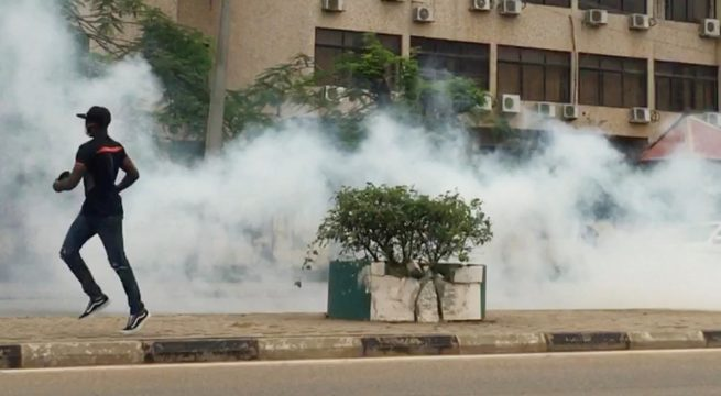 #ENDSARS: Police Clash with Protesters in Abuja