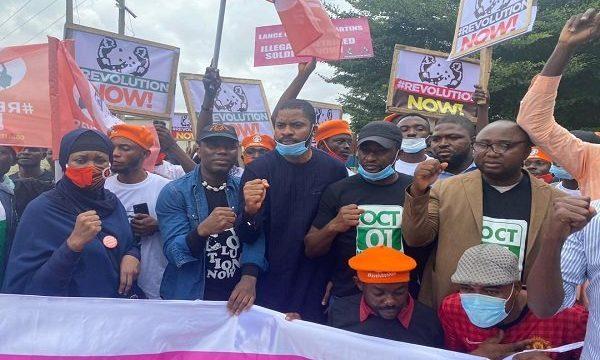 BREAKING: #RevolutionNow Protest Hits Abuja