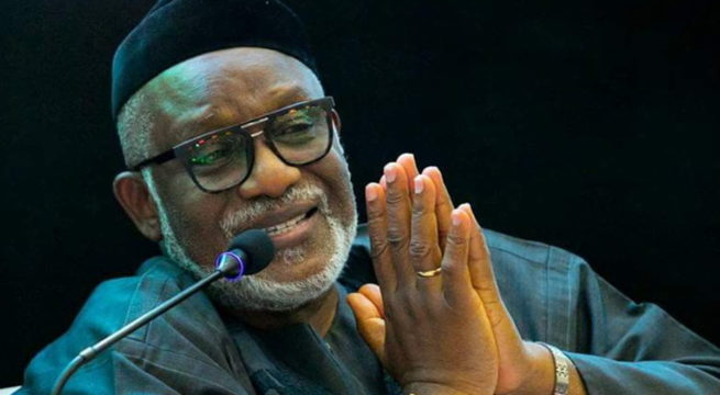 Ondo Decides: Akeredolu Tops as INEC Declares Results from 15 LGAs
