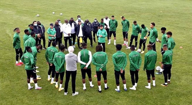 16 Eagles Train Ahead of AFCON Qualifier, Osimhen Absent