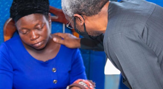 Speaker Femi Gbajabiamila Visits Family of Vendor Shot by His Security Detail