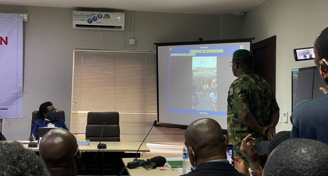 Nigerian Army Testifies Before Lagos Panel, Claims Officers Fired Blank Bullets into the Air