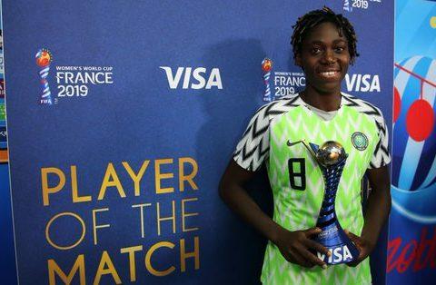 UEFA Nominates Oshoala for Player of the Year Award