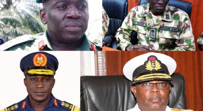 20 Generals Face Retirement as Buhari Names New Service Chiefs