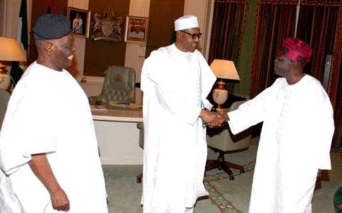 Buhari Felicitates With Bisi Akande at 82