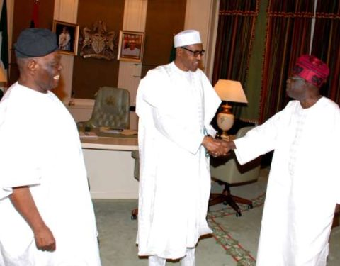 Buhari Felicitates With Bisi Akande at 82