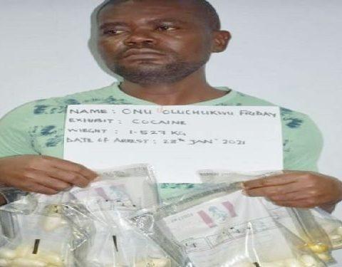 Man Excretes 86 Wraps of Cocaine at Abuja Airport