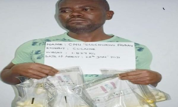 Man Excretes 86 Wraps of Cocaine at Abuja Airport