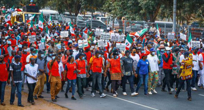 NLC Stages Protest at National Assembly