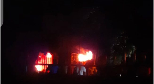 BREAKING: Fire razes INEC Office in Enugu