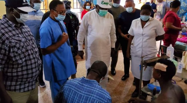 Gov Ugwuanyi Commiserate with Victims as Trigger Happy Police Officer Kill 5, Injure 4 in Enugu