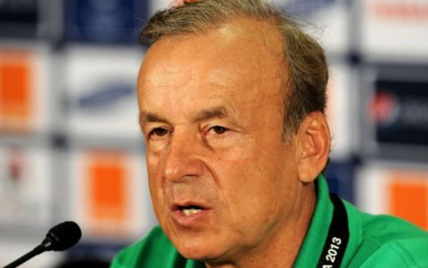 Rohr Passes Verdict on Eagles Performance Defeat to Cameroon