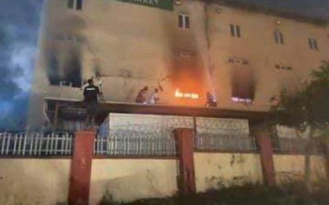 Fire Razes Abuja Ebeano Supermarket
