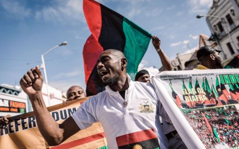 Nigerians Protest In Israel Over Nnamdi Kanu's Detention