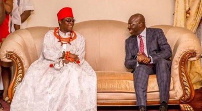 Oba of Benin Tells FG Not To Allow Gov Obaseki Take Custody Of Returned Artifacts