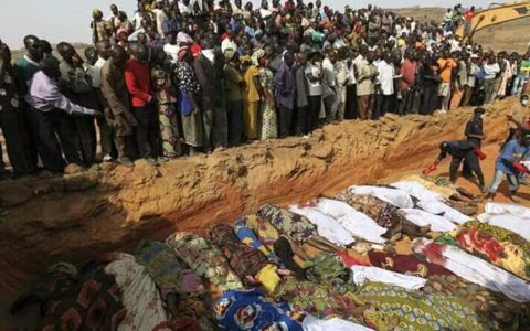 Tension Grips Jos Over Mass Burial
