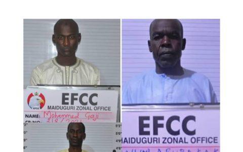EFCC Arrests 3 Spiritualists For ₦16M Get-Rich-Quick Scam In Maiduguri